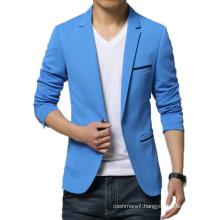 New Arrival Blazer Men Cotton Soild Suit Jacket Slim Fit Blazer
