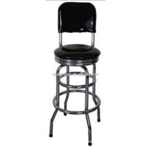 bar chair with chrome frame
