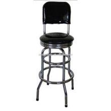 Cadeira de bar com armação cromada