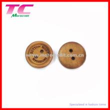 Botão de costura de madeira de Brown feito sob encomenda para o desgaste dos miúdos