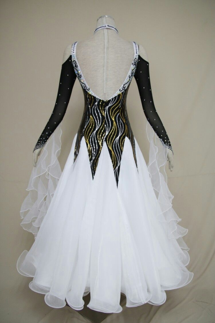 Black and white Ballroom gowns