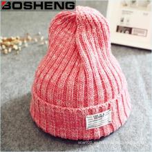 Las nuevas mujeres calientes del invierno hacen punto el sombrero de la boina del patín del esquí de la gorrita tejida
