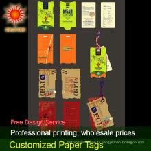 étiquettes volantes en papier en forme de feuille