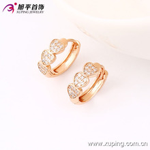 Xuping Fashion Women Costume Jewelry Hoop Synthetic Cubic Zirconia Earring in Environmental Copper 90201