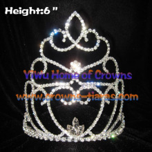 6inch Heart Rhinestone Crowns