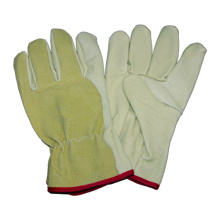 Beige Pig Grain Safety Work Glove, Driving Glove