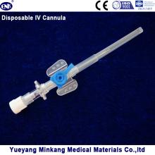 Cathéter intraveineux intraveineux / cathéter intraveineux avec port d'injection 22g
