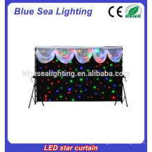 Fireproof velour Led Star Curtain for Stage Backdrops