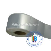 Etiqueta impressa impermeável da etiqueta do poliéster da prata do PVC / ANIMAL DE ESTIMAÇÃO