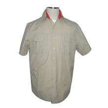 色の選択的スプライシング男性コットン シャツ