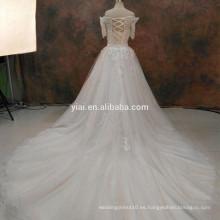 RSW1090 Encaje Binder vestidos de novia Vestidos sin cuello