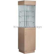 Top Glass Freestanding Display Furniture Showcase Design, Illuminating Wooden Furniture Showcase