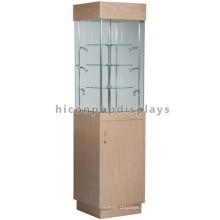 Vitrina de vidro superior mostrando mobiliário, design de exposições, iluminação de móveis de madeira Showcase
