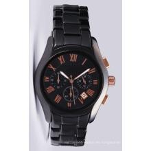Glatt Mens Quality Ceramni Watch en 42mm Funda