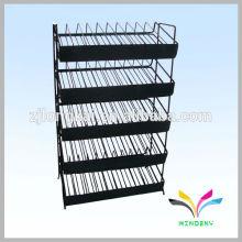 5 étages étagère métallique réglable pour support de vernis à ongles avec panneau de signalisation