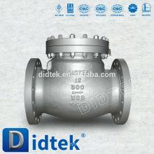Válvula de retenção da API Didtek Swing Válvula de refluxo da pressão traseira