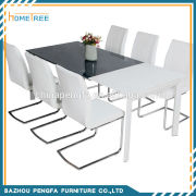 HTDT-54 extendable dinging talbe chairs for arabic furniture