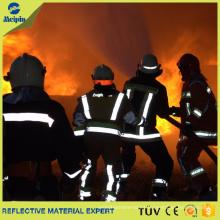 Cinta reflectante ignífuga fluorescente de la tela para las prendas del bombero