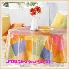 Plastic PVC Printed Table Cloths Factory Tj0327