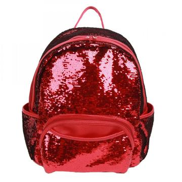 RED SEQUIN BACKPACK -0