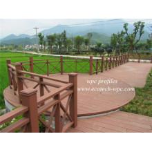 Легкая чистка композитных низкие эксплуатационные расходы WPC Патио Парк ограждения древесины