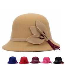 Dame Fashion Wolle strickte Winter Warm Bucket Hat (YKY3240)