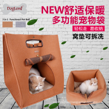 DogLemi Wholesale 3 in 1 Functional Pet Dog Cat House Bed Carrier