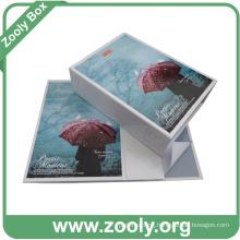Rigid Cardboard Folding Gift Box / Printed Paper Cosmetic Foldable Box
