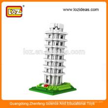 LOZ Diamond bloco Leaning Torre de Pisa brinquedos educativos para crianças (Item No.9367)