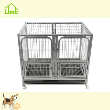Fashion Rustproof Black Square Tube Dog Cage