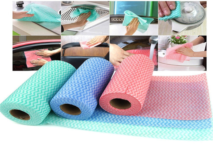 Color Microfiber Nonwoven Fabric Wipes