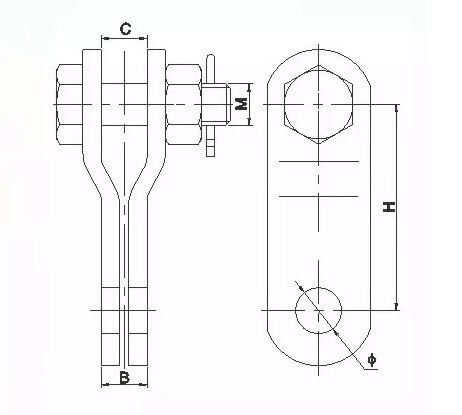 PS Type Parallel Groove Clevis