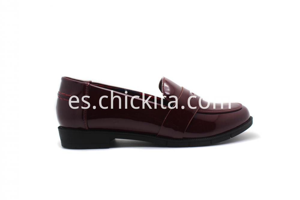 Classic Patent Loafer Pump Shoes