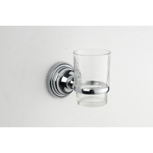 Accesorios de baño Soporte de vaso solo de zinc con copa de cristal (JN177138)