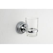 Аксессуары для ванной комнаты цинка одиночный держатель tumbler с стеклянной чашке (JN177138)