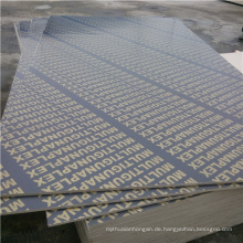 Pappel Core 15mm Film Faced Construction Wasserdichte Schalung Sperrholz