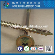 Taiwan Round Washer Head Torx Drive Serration Shank Uma rosca Notch Type-17 Point ZYCR3 + Parafuso de madeira