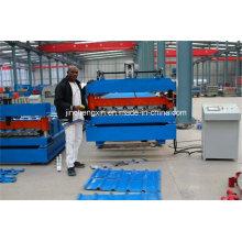 Panel de techo trpezoidal de acero que hace la máquina