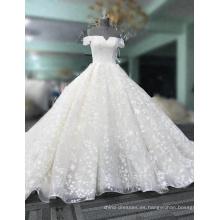 Nuevo diseño elegante Alibaba blanco marfil musulmán manga larga una línea de encaje vestidos de novia vestidos de fiesta 2017