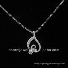 A prata quente da venda 925 chapeou o pendente PSS-002 do coração da forma
