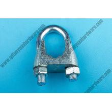 Clip de corde de fil de DIN741 / matériel marin galvanisé de bride
