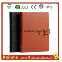 Caderno de couro organizador para presente de negócios 4