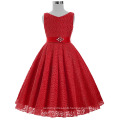 Grace Karin Sleeveless V-Neck Lace Flower Girl Princess Pageant Red Girls Dress 2~12Years CL008938-7