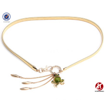 Han edition drill golden frog pearl waist chains for ladies metal belt
