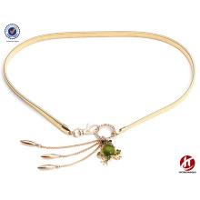 Хань издание сверлить золотые лягушки жемчужина талии цепи для дам металлический пояс