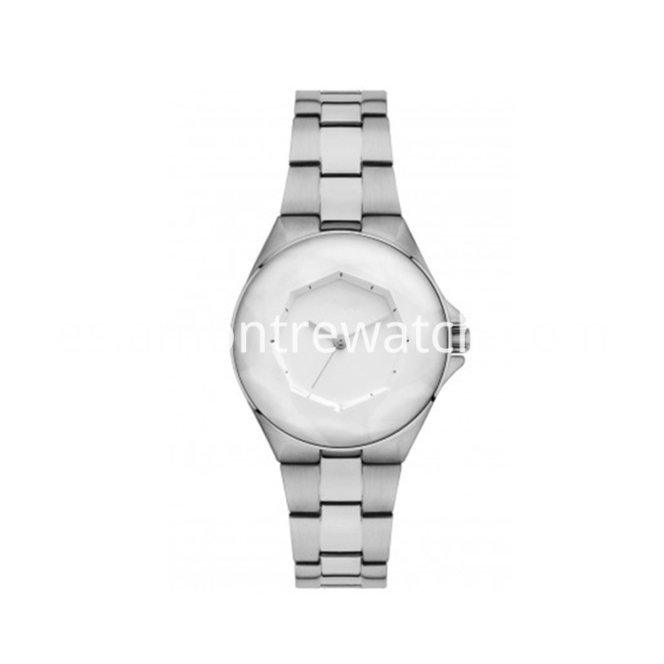slim silver coloured strap watch