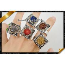 Vente en gros de bijoux de diamants à billes de gemme Druzy (FR004)