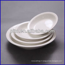 Usine de porcelaine P & T, assiettes en porcelaine, plaques rondes profondes