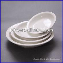 P&T porcelain factory, porcelain soup plates, round deep plates