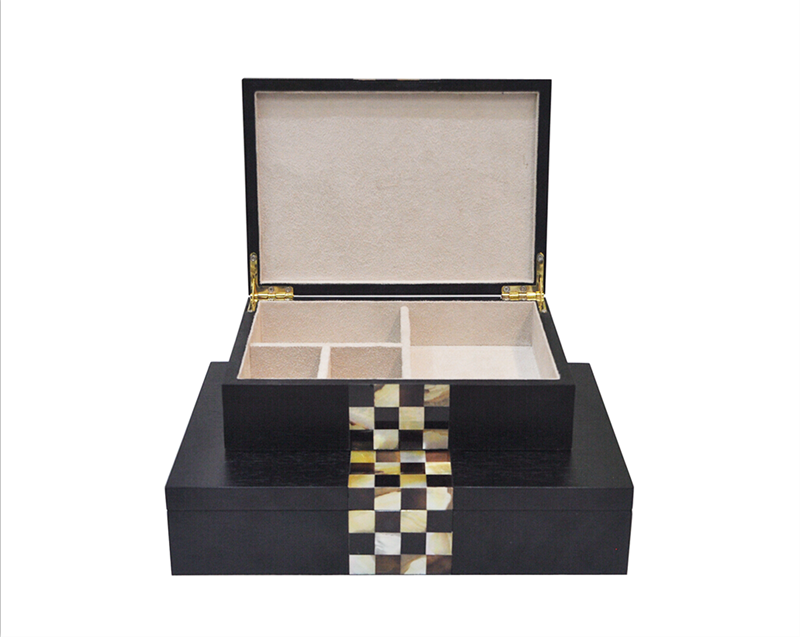 mother of pearl wooden jewelry box